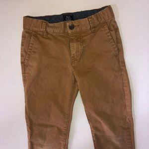 Gap Worker Brown Skinny Chino Pants (Boys 6/7)